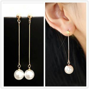 5 for $25 Faux Pearl Long Dangle Earrings